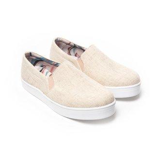 Slip on Mizzi Shoes Linho Natural Feminino