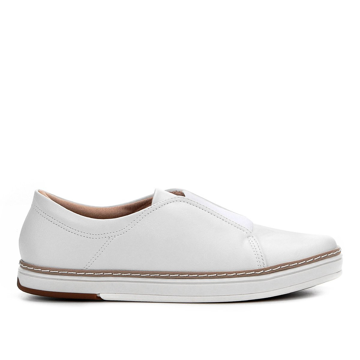 Modare Feminino Slip Slip Modare Elástico Feminino Slip On Branco Elástico Elástico On Modare Branco On qExZwUFnX