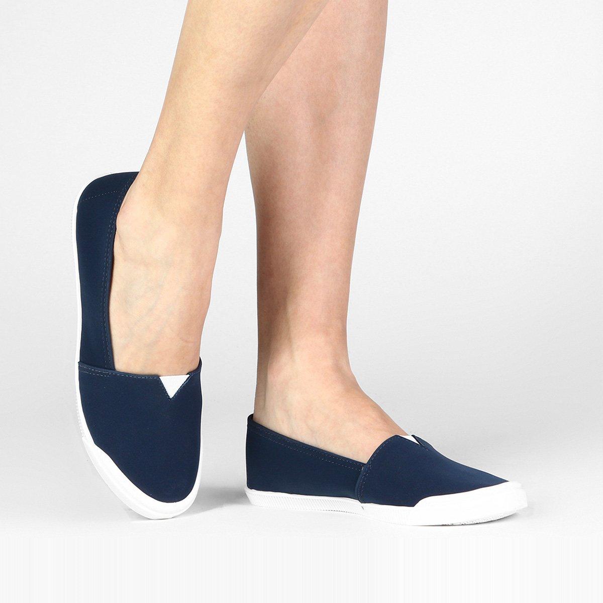 Feminino Slip Elástico Slip Moleca On Azul On nwFqPXp