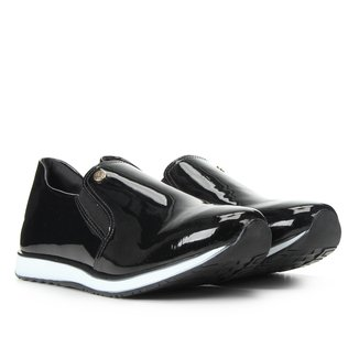 Slip On Via Uno Jogging Verniz Feminino