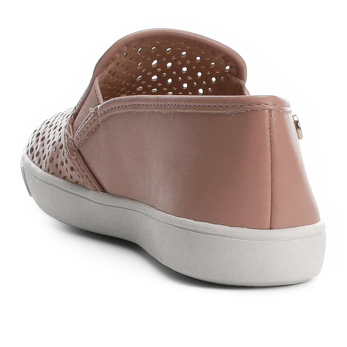 Vazado Rosa Via On Uno Slip Slip On Feminino qzp04wXw