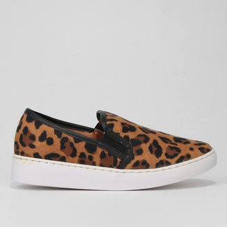 Slip On Vizzano Animal Print  Onça Feminino