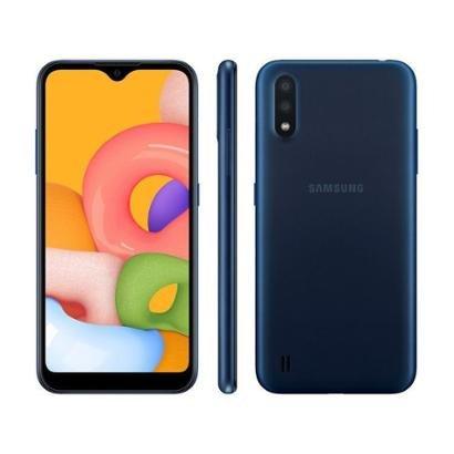 """Smartphone Samsung Galaxy A01 32GB 4GB Octa-Core 2GB RAM Tela 5,7"""""""