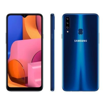 Smartphone Samsung Galaxy A20s 32GB Azul 4G - Unissex