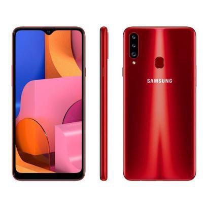 Smartphone Samsung Galaxy A20s 32GB Vermelho 4G