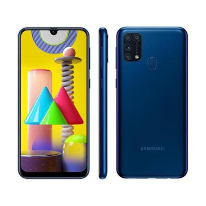 Smartphone Samsung Galaxy M31 128GB 4G 6GB RAM Tela 6,4 Cam. Quadrupla + Selfie 32MP Unissex-Azul