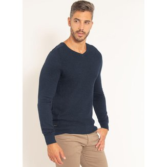 Suéter Aleatory Gola V Texturizado Masculina