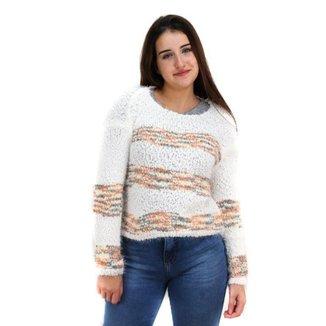 Suéter Estampado Feminino Mosaico