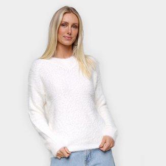 Suéter Tricô Facinelli Pelinho Liso Feminino