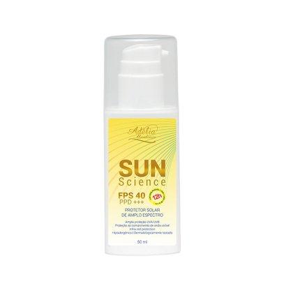 Sun Science FPS 40 - Protetor Solar de amplo espectro FPS 40/PPD +++ 50ml Adélia Mendonça