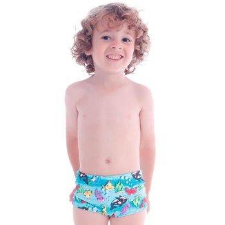 Sunga Boxer Infantil Fundo do Mar  Cecí