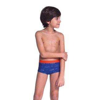 Sunga Kids Lupo Beachwear Estampada