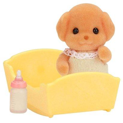 Sylvanian Families - Família Poodle Toy - Baby Poodle Toy - Epoch