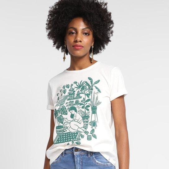 T-Shirt Cantão Classic Floresta Urbana Feminina - Off White