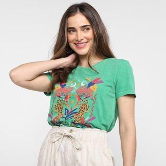 T-Shirt Cantão Classic Slim Floresta Feminina