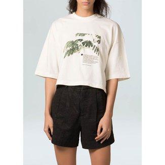 T-Shirt Cropped Bio Eco-Offwhite - P