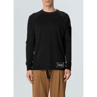 T-Shirt Eco Soft Raglan Ml-Preto - P