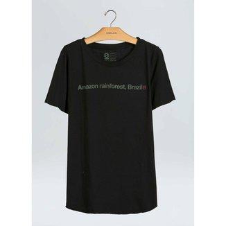 T-Shirt Fem Amazon Rain Forest-Preto - P