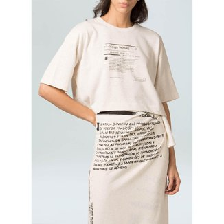 T-Shirt Fem Redesign Waste Eco-Natural - P
