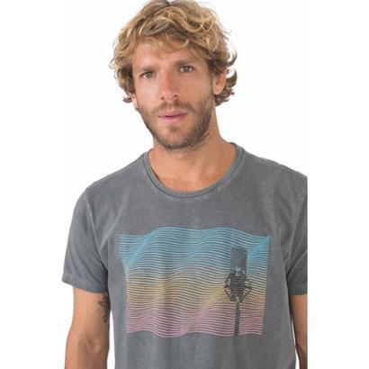 T-Shirt Gola Olímpica Estampada Microfone Masculina
