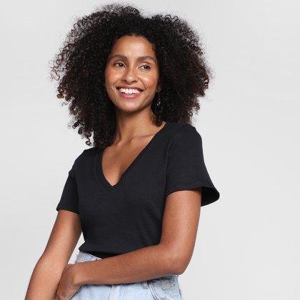 T-Shirt Lança Perfume Básica Feminina