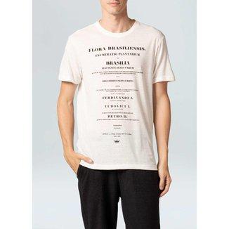 T-Shirt Light Eco Flora Brasiliensis-Offwhite - P