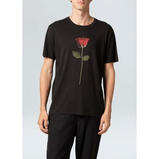T-Shirt Soft Used New Rose-Preto - PP