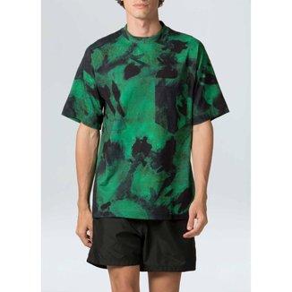 T-Shirt Tie Dye Oversized-Verde/Azul - P
