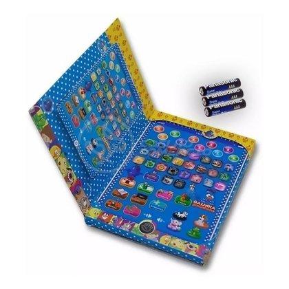 Tablet Infantil Galinha Pintadinha Multifunções Educativo Soletrar Matemática + 3 Pilhas AAA