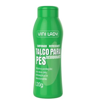 Talco Desodorante Pés Antisséptico Canforado 120g Vini Lady