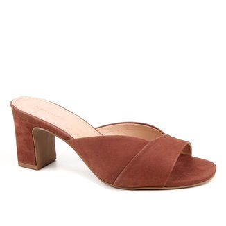 Tamanco Couro Shoestock Salto Grosso Nobuck