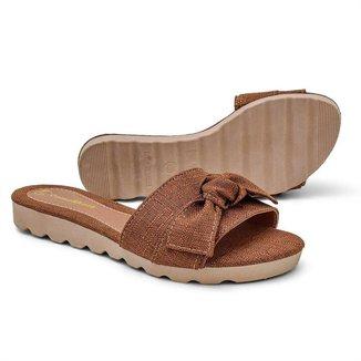 Tamanco Sandalia Feminino Terracota Gomes Shoes 1508