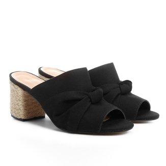 Tamanco Shoestock Salto Grosso Nó Feminino