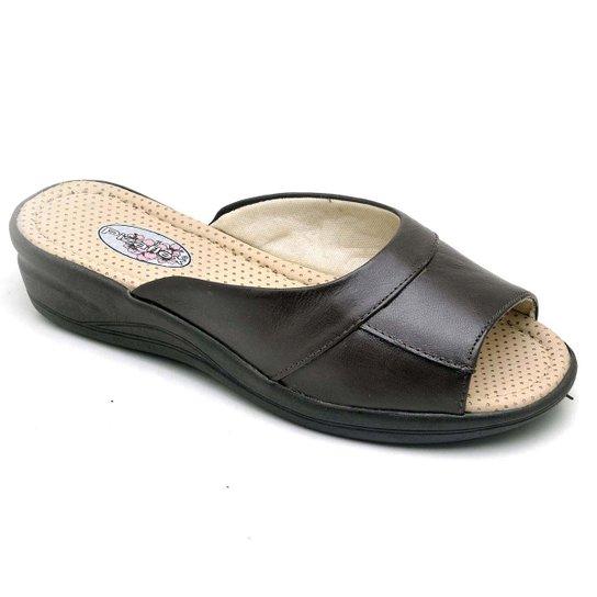 Tamanco Top Franca Shoes Conforto Feminino - Preto