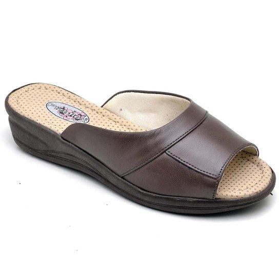 Tamanco Top Franca Shoes Conforto Feminino - Cafe