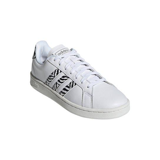 Tênis Adidas Grand Court Zebra Feminino - Branco