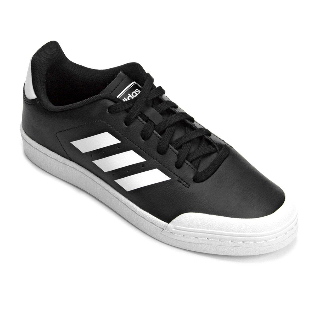 10b88f25201 Tênis Adidas Retro Court Wild Card Masculino - Branco e Preto - Compre  Agora