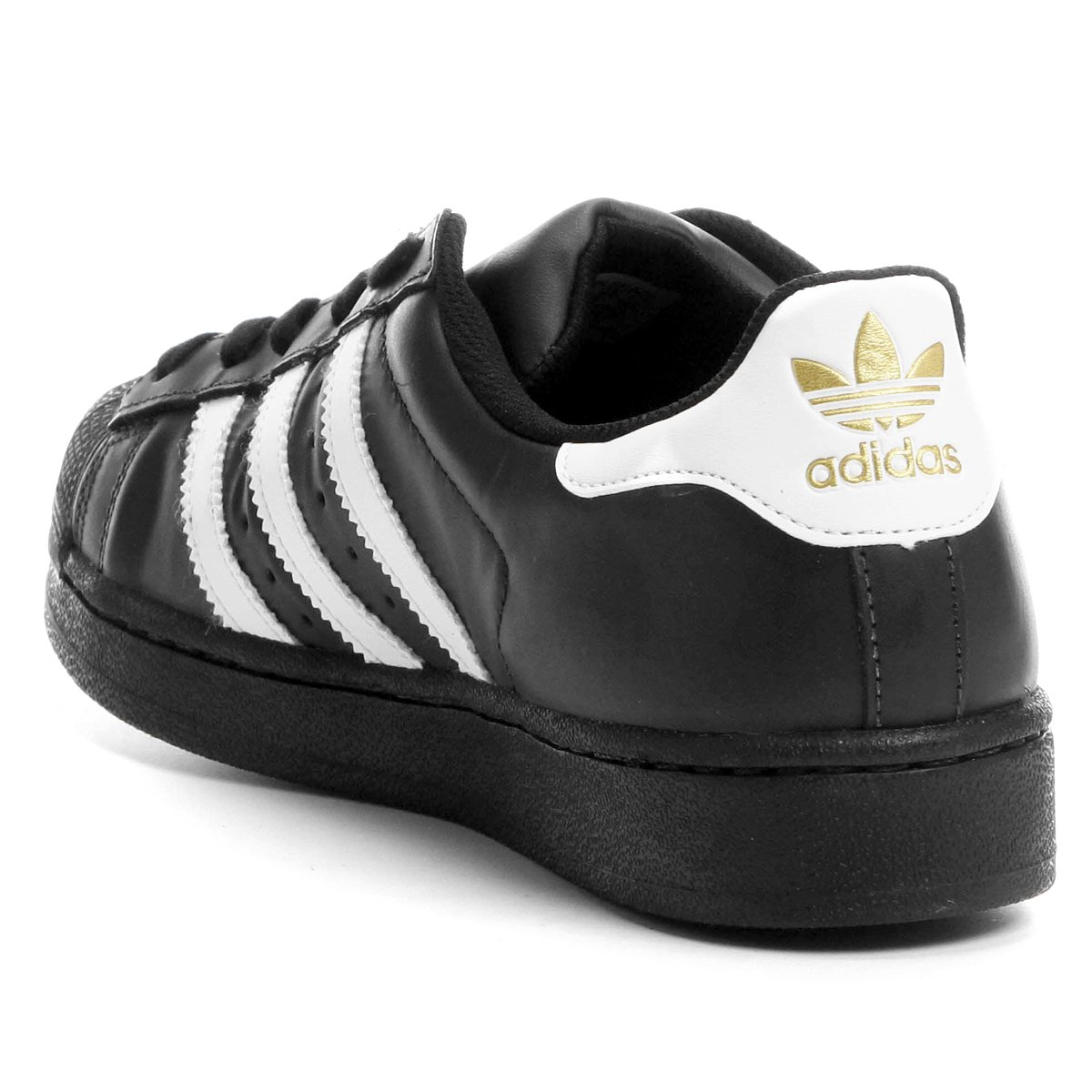 Neu Tênis Adidas Superstar Foundation Preto e Branco | Zattini