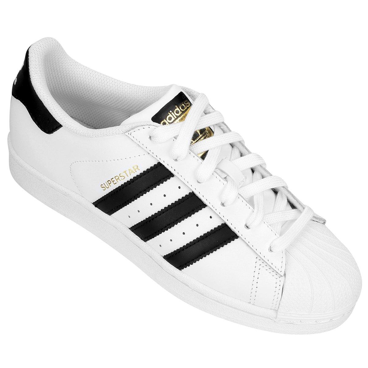 T�nis Adidas Superstar Infantil - Branco+Preto