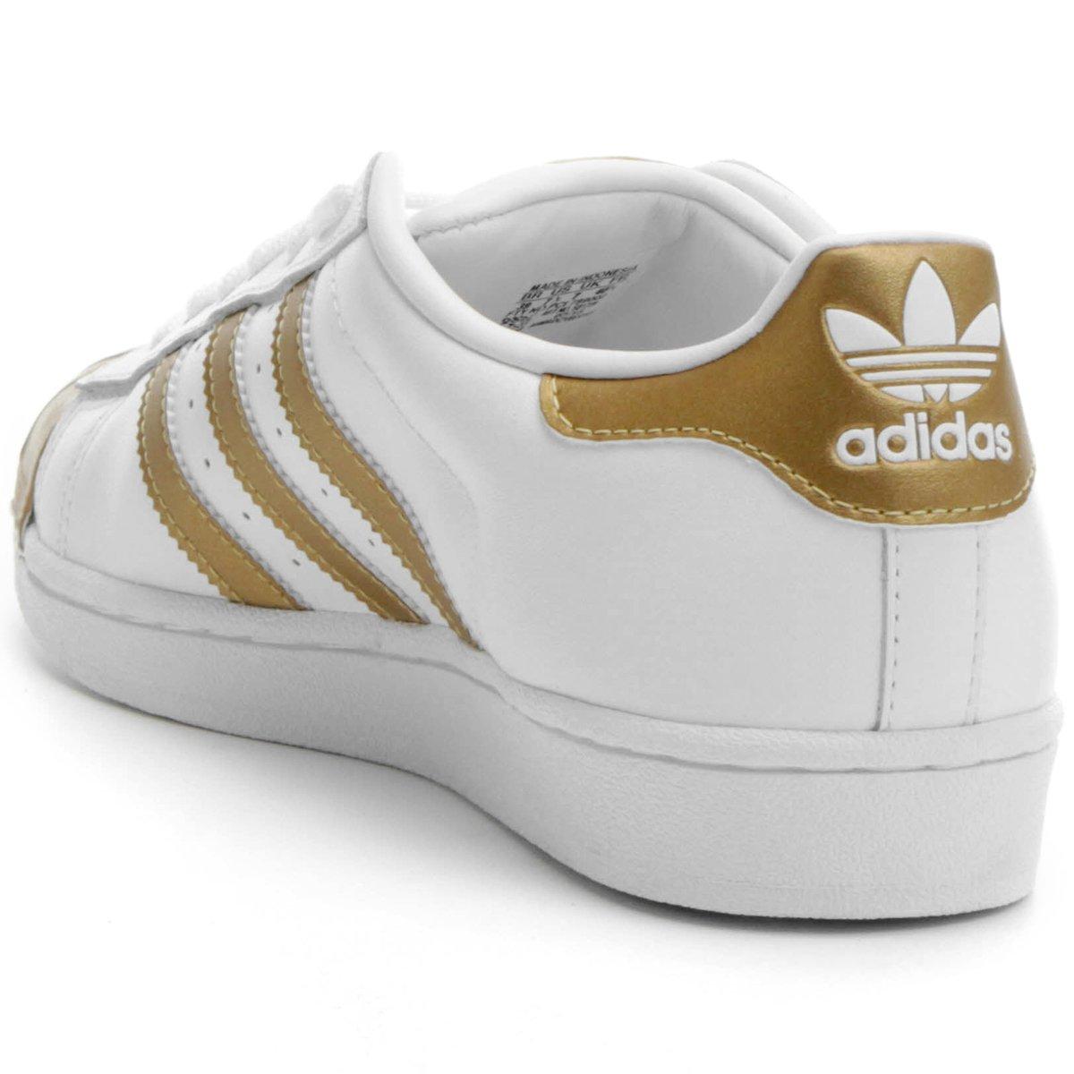 d096d73959 Tenis Adidas Infantil Branco Com Dourado - naturallycurlye.com