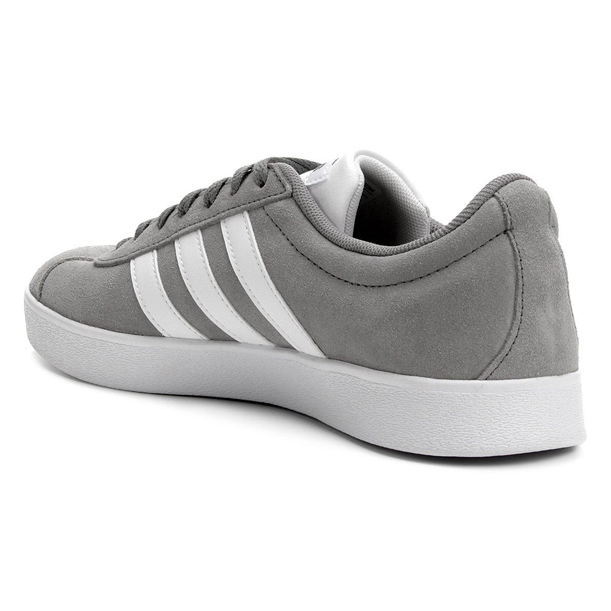Tênis Adidas Vl Court 2.0 Masculino Cinza