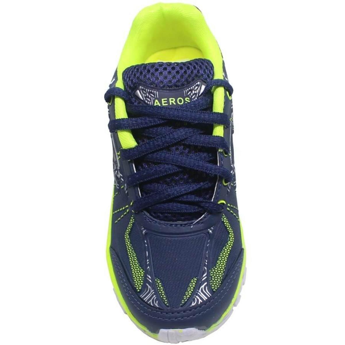 Kids Azul Tênis Aeros Aeros Limão Infantil Kids Infantil Verde e Verde Tênis e Azul vAv8rxU