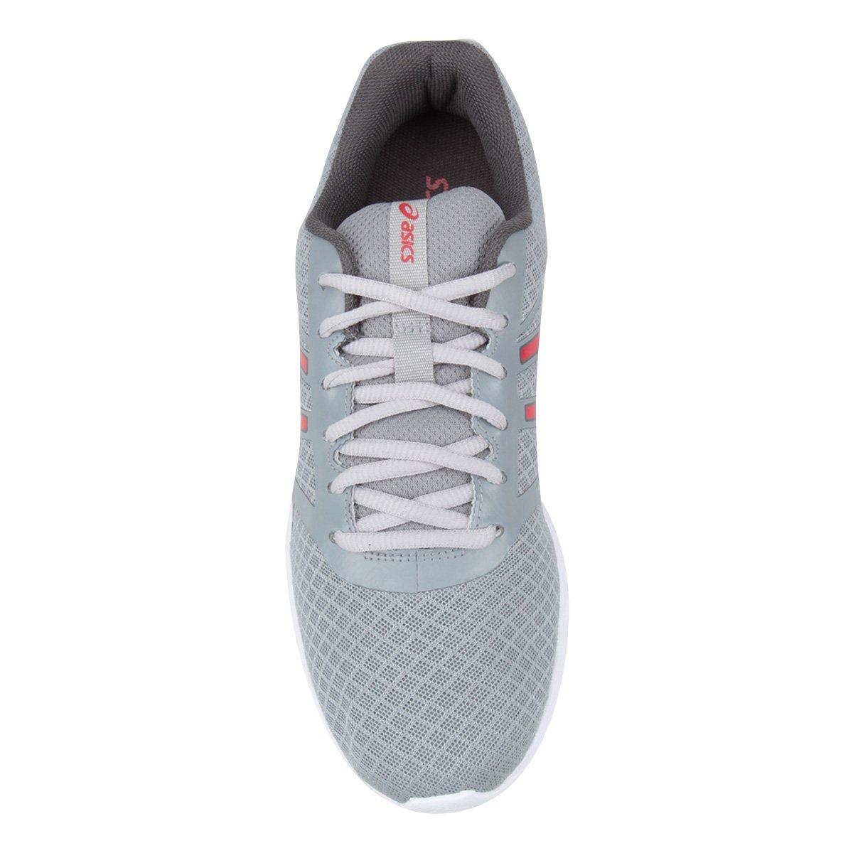 Tênis Asics Blocker Masculino - Prata e Vermelho - Compre Agora ... 63542bb0e4c84