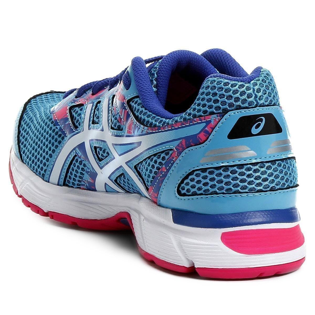 Tênis Asics GEL Excite 4 Feminino - Azul e Rosa - Compre Agora  5ac16a989b588