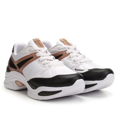 5ddfa37c0a1 Tênis Azaleia Chunky Sneaker Feminino - Branco - Compre Agora