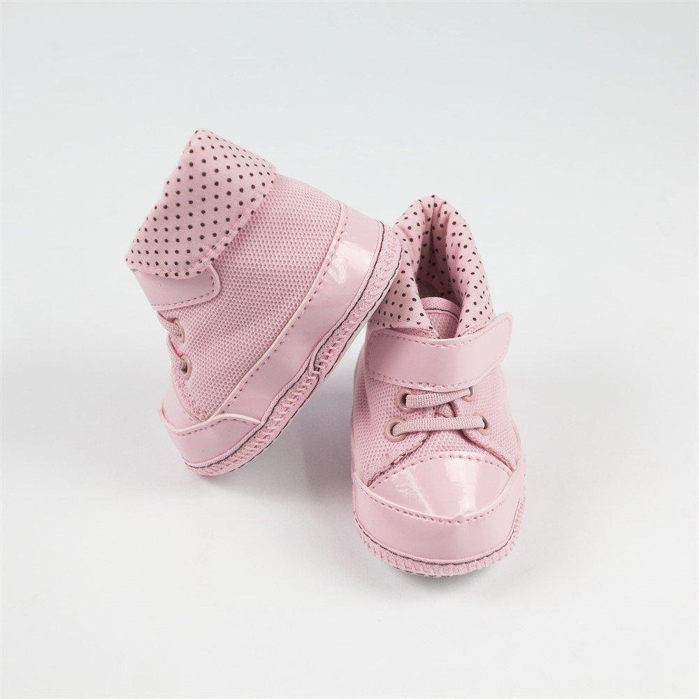 67530fd6ff Tênis Bebê Feminino Cano Alto Rosa com Poá-G - Compre Agora