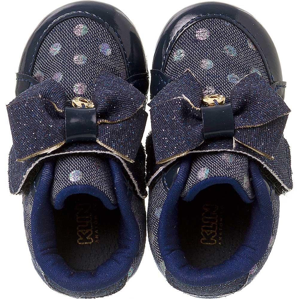 Tênis Feminino Cravinho Tênis Bebê Laço Funny Bebê Azul Klin qUCaw