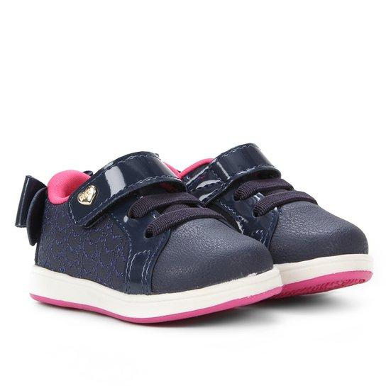 Tênis Bebê Klin Mini Moon Feminino - Marinho+Pink
