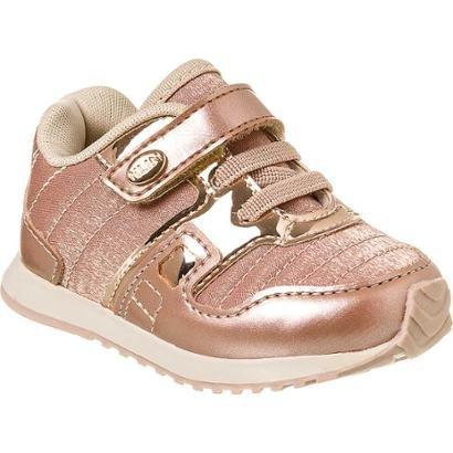 1be718f0fe Tênis Bebê Klin Mini Walk Metalizado Feminino-Feminino