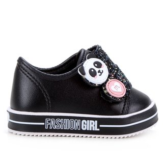 Tênis Bebê Molekinha Pandinha Fashion Girl Feminino